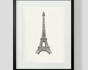 Eiffel Tower Decor: Eiffel Tower Print