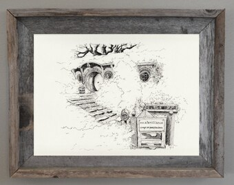 Lord of the Rings Poster, Lord of the Rings Print, Lord of the Rings art: Bag End Print
