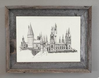 Harry Potter, Harry Potter Wall Art: Hogwarts Print