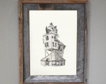 Harry Potter, Harry Potter Wall Art, Weasley House: The Burrow Print