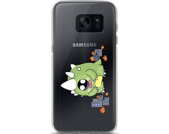Godzilla Samsung Galaxy S8 Case, Cute Samsung Galaxy S8 Plus Case, CuteZilla Galaxy S7 Case, Illustration Galaxy S7 Edge Case