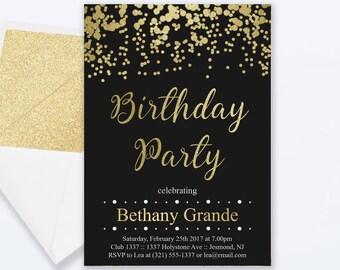 ERNESTINE: Adult birthday photo invitations