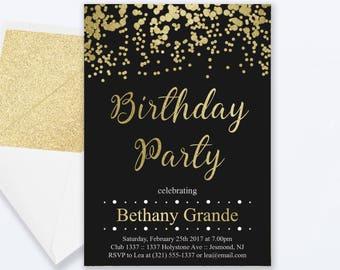 Adult Birthday Party Invitations Fairy Lights Birthday Etsy