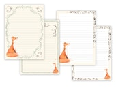 photograph about Letter Writing Paper Printable titled Fox Printable Composing Paper - Stationary Paper - Letter Producing Fixed - Fox Notice Paper - Printable Magazine Internet pages - Fox Sbooking Paper