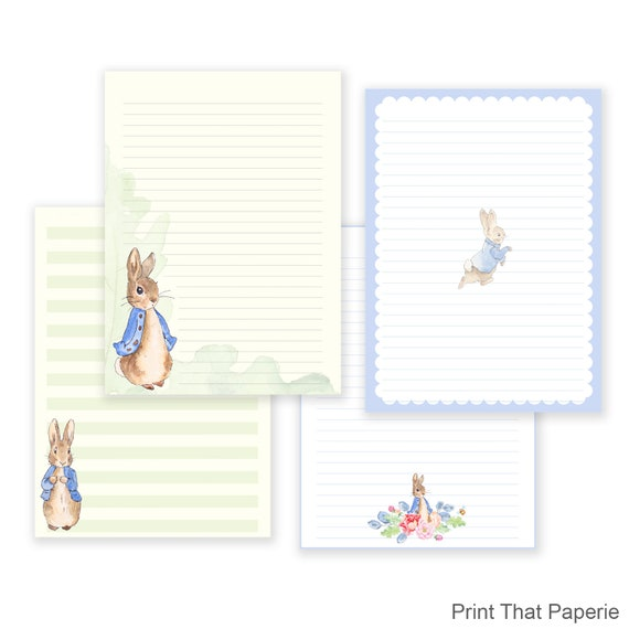 graphic regarding Letter Writing Paper Printable identified as Peter Rabbit Printable Producing Paper - Stationary Paper