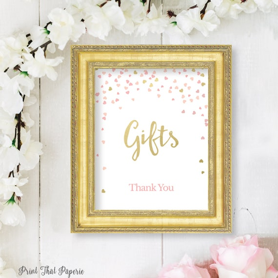 Wedding Gift Table: Bridal Shower Gift Sign