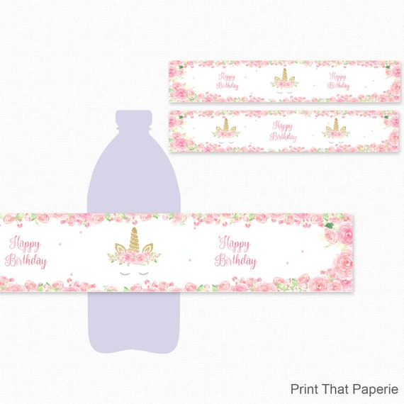 Birthday Water Bottle Labels