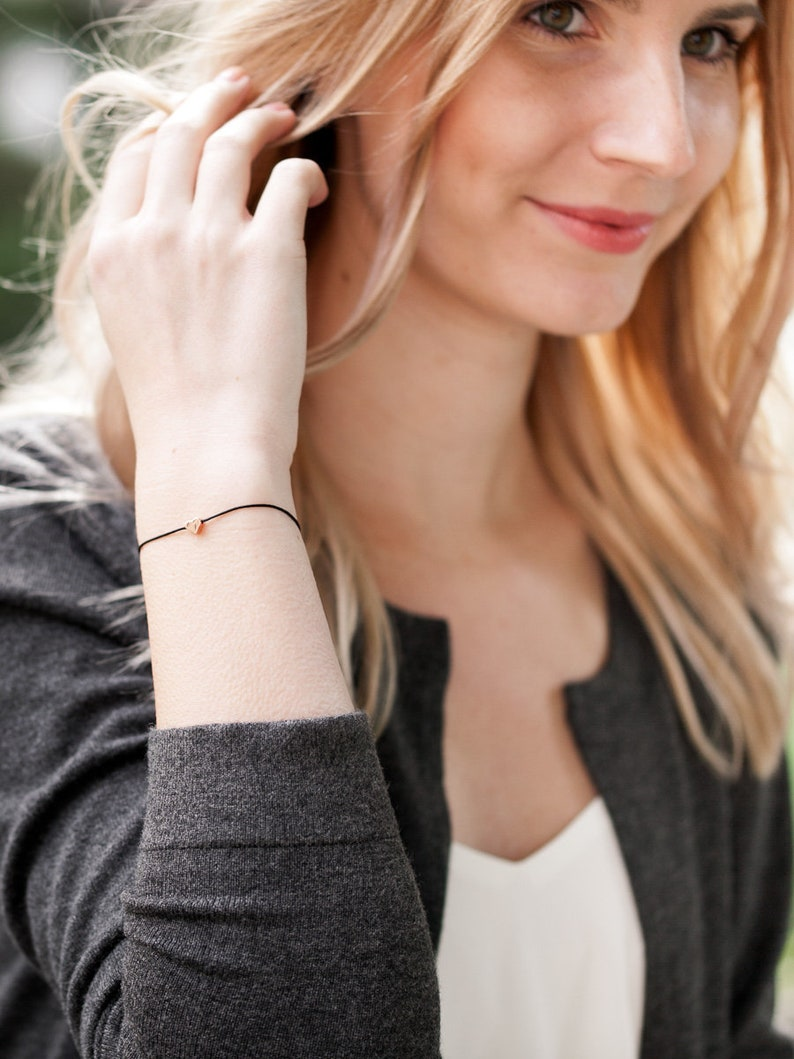silver or rose gold Friendship bracelet  \u00bbSet of 2 II\u00ab stainless steel in the colours gold