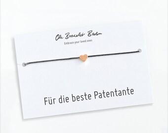 Bracelet godmother with engraving incl. godfather letter