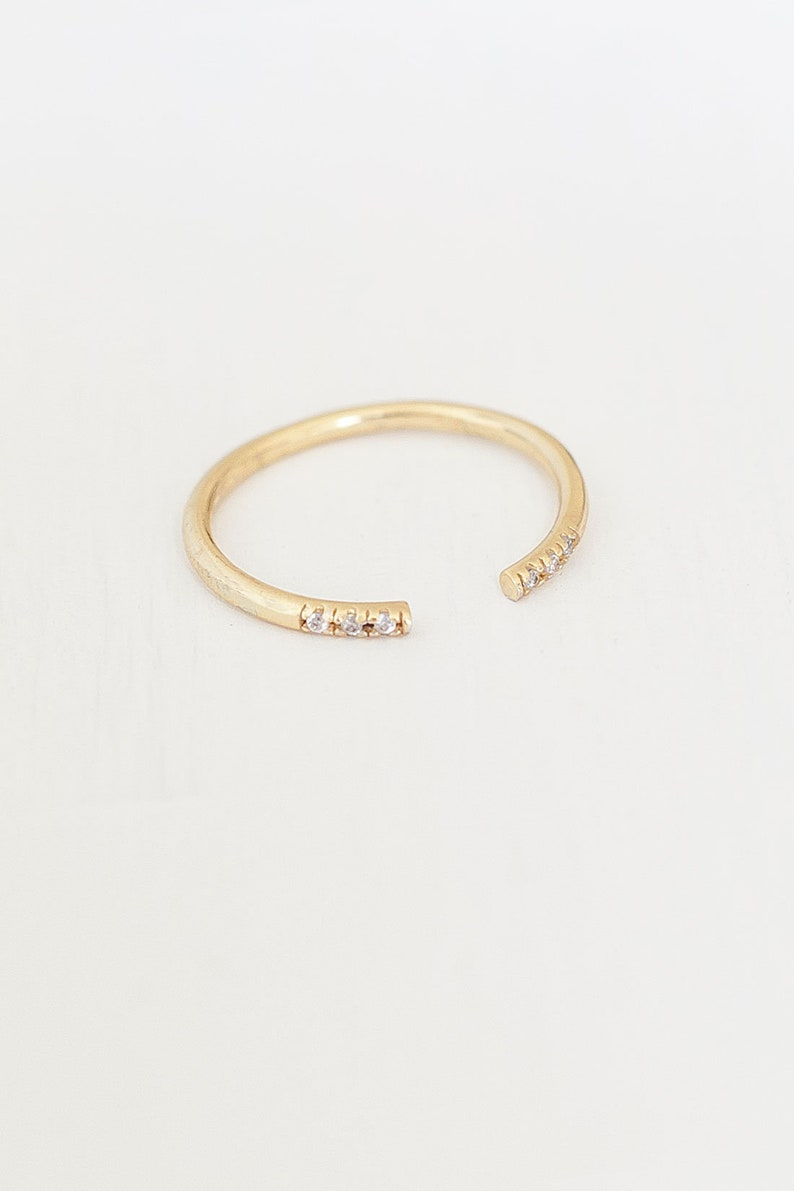 in the colours gold Ring \u00bbStacking ring VI open\u00ab made of 925 sterling silver silver or rose gold