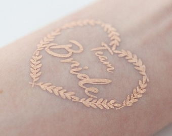 Tattoo Set »Team Bride« for JGA | in the colours gold, silver or rose gold | Gift