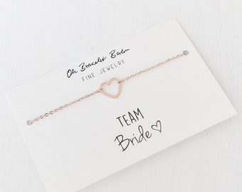 Bracelet »Bride/Team Bride I«| stainless steel in the colours gold, silver or rose gold 1x Bride + 1-10x Team Bride