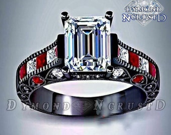 Harley Quinn Inspired Mad Love Engagement Ring Etsy
