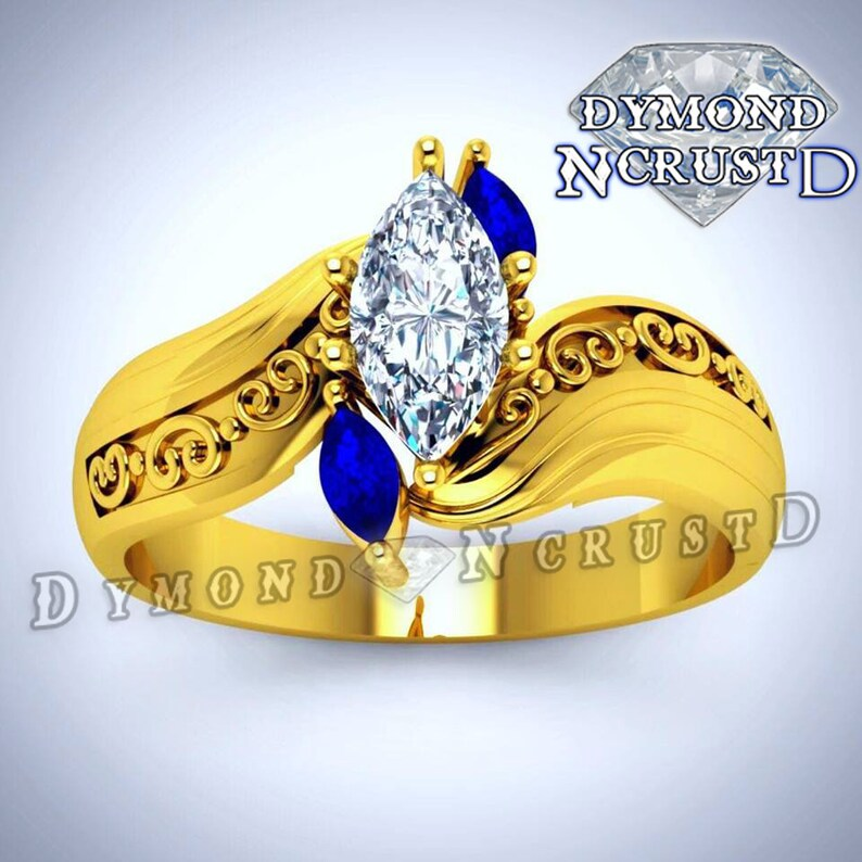 Beauty Beast Inspired Engagement Ring Etsy