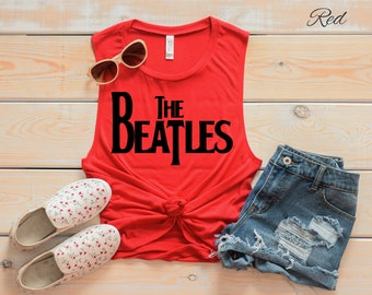 The Beatles Logo Muscle Tank | Beatles Tank | Casual Shirt | Music Shirt | Classic Rock | Music Legends | Muscle Tank | All You Need Is Love