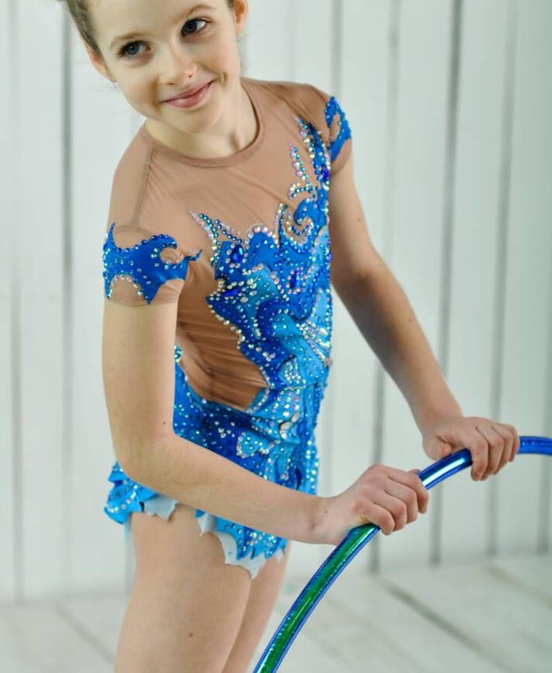 9d8886224740 Beautiful designer rhythmic gymnastics leotard ice skating competition