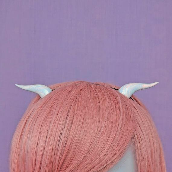 Pastel Pink and Purple Fairykei Resin Demon Horns