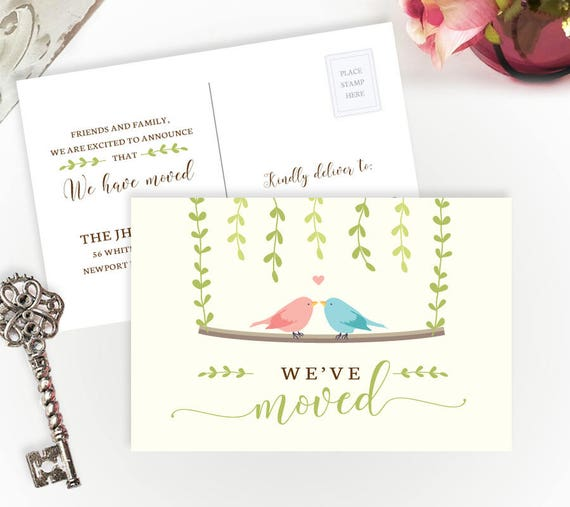 Printed Moving Cards We Ve Moved Postcards Personalized Moving Announcements