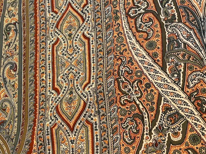 LEE JOFA Annabella Paisley Cotton Fabric OOP 1981 Vintage 3.88 Yards Italy Decor