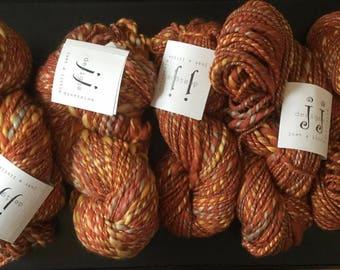 Handspun Yarn- Silk Merino Sunset