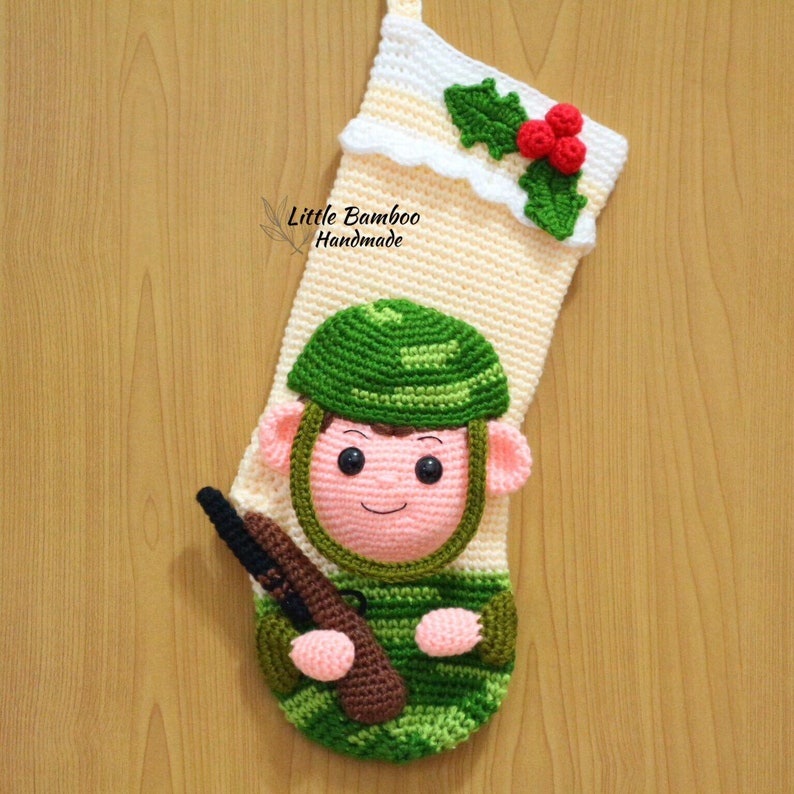 Soldier Christmas Stocking PATTERN pdf Crochet Pattern