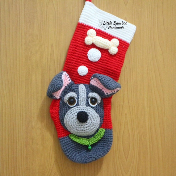 Pattern My Cute Dog Christmas Stocking Crochet Pattern Pdf Etsy