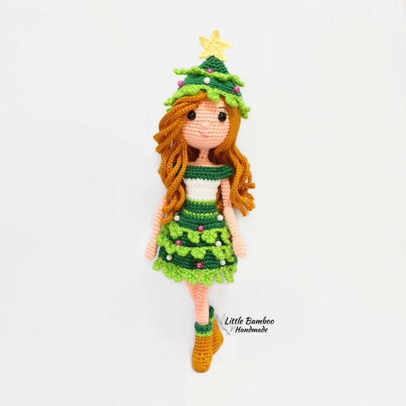 PATTERN-Christmas Tree Girl-Crochet Pattern pdf image 0