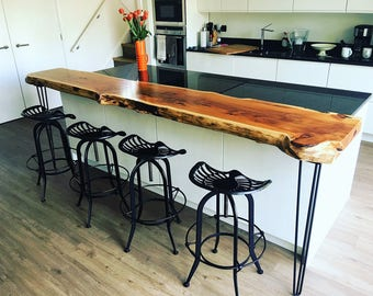 Live Edge Wood Breakfast Bar