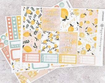 Lemonade - MINI Weekly Sticker Kit, for Standard Vertical Planners