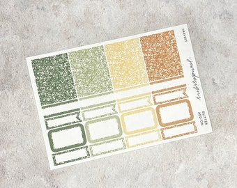 Harvest - GLITTER Add-on, Glitter Stickers Add On Kit, for Standard Vertical Planners