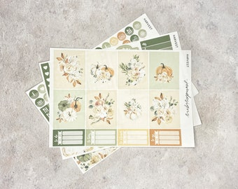 Harvest - MINI Weekly Sticker Kit, Floral Weekly Planner Sticker Kit, for Standard Vertical Planners