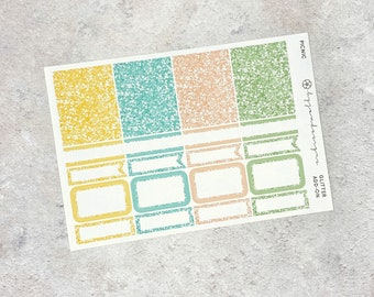 Picnic - GLITTER Add-on, Glitter Stickers Add On Kit, for Standard Vertical Planners