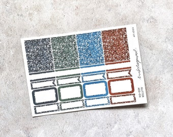 Cozy Up - GLITTER Add-on, Glitter Stickers Add On Kit, for Standard Vertical Planners