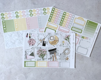 Boss Babe - MINI Weekly Sticker Kit, for Standard Vertical Planners, white space planning, white space planner sticker kit