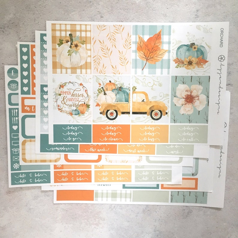 Orchard  DELUXE Weekly Sticker Kit Planner Stickers No image 0