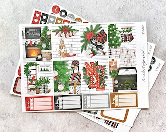 Jingle - MINI Weekly Sticker Kit, Christmas Weekly Planner Sticker Kit, for Standard Vertical Planners