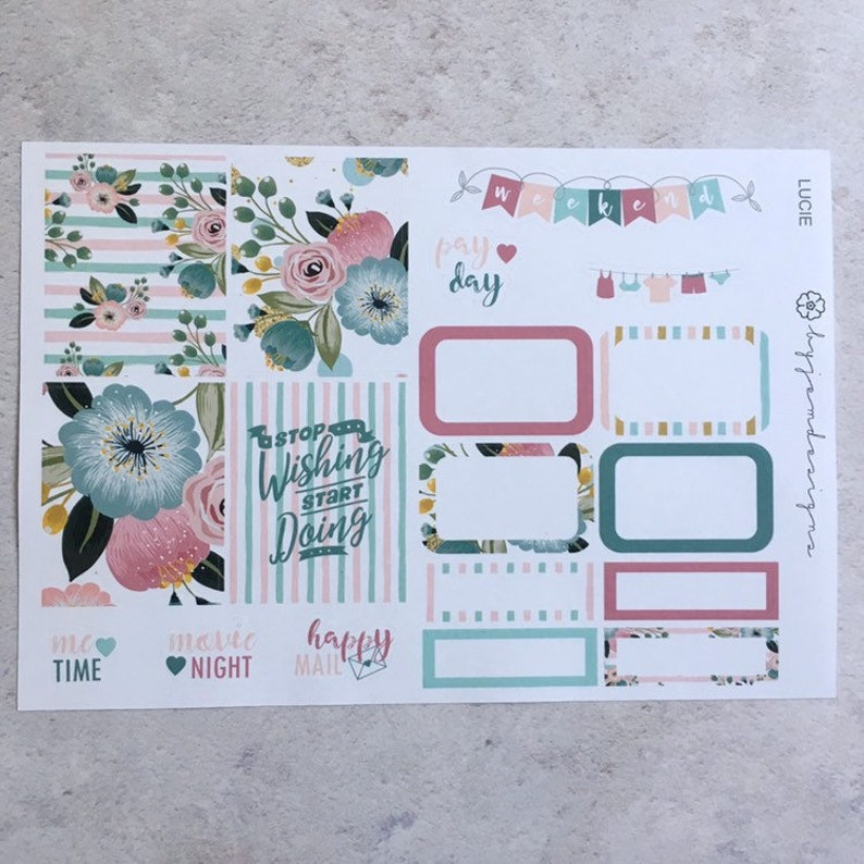 Lucie  ONE PAGE Weekly Sticker Add On Kit for use with EC image 0