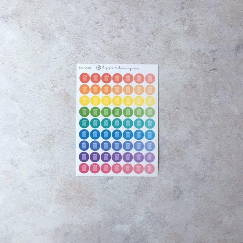 Rubbish Bin/Trash Icons  Mini Sheet Icon Stickers image 0