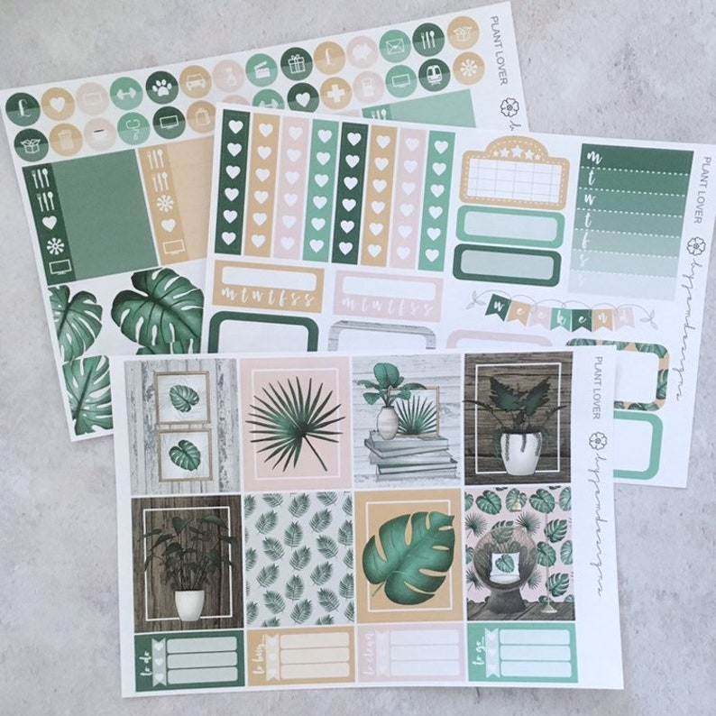 Plant Lover  MINI Weekly Sticker Kit for use with EC image 0