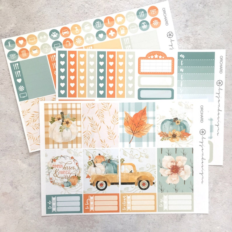 Orchard  MINI Weekly Sticker Kit for use with EC image 0