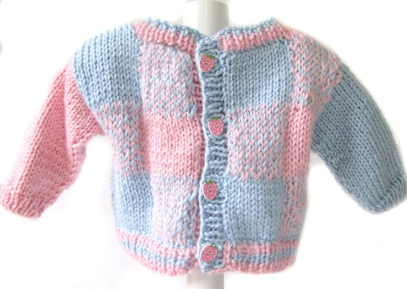 c18bdca0a327 KSS New Handmade Pastel Plaid Colors Baby Sweater Jacket 18