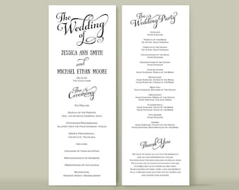diy wedding programs templates bacaedefbad free wedding templates
