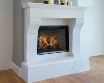 Merlot Stone Fireplace Mantel