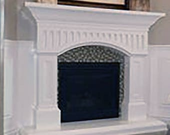 Franklin Stone Fireplace Mantel