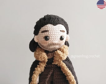 Amigurumi pattern crochet doll pattern Medieval doll King