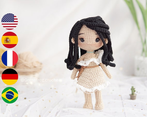 princess crochet doll tribeswoman