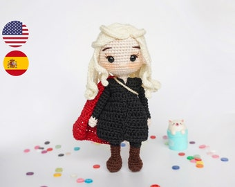 Amigurumi pattern crochet doll pattern Medieval doll Queen of Dragons