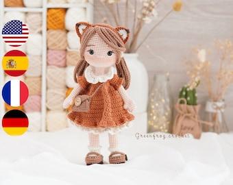 Amigurumi pattern doll crochet for Mia doll PDF pattern