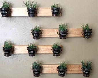 Indoor Wall Garden (Two Rows Of 3 Pots)
