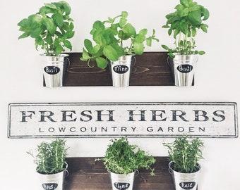 Herb Wall Planter Etsy